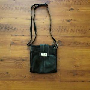 Tignanello Black Shoulder Bag